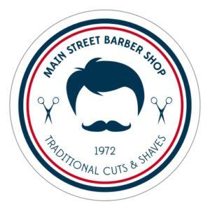 Adhesivo Barber Shop Traditional.