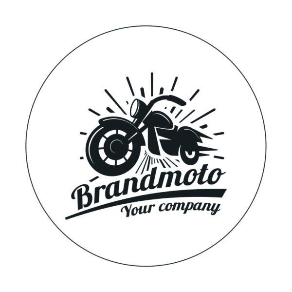 Adhesivo Club de motos Brandmoto.