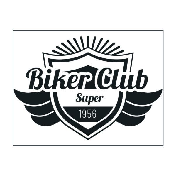 Adhesivo Club de motos Super Biker Club.