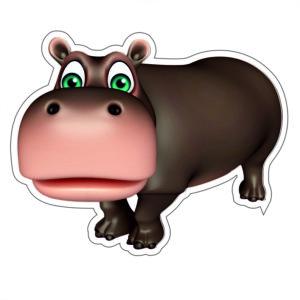Adhesivo Hipopótamo.