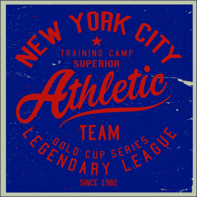 Adhesivo New York Athletic.