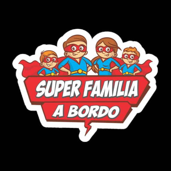 Adhesivo Super família a bordo.