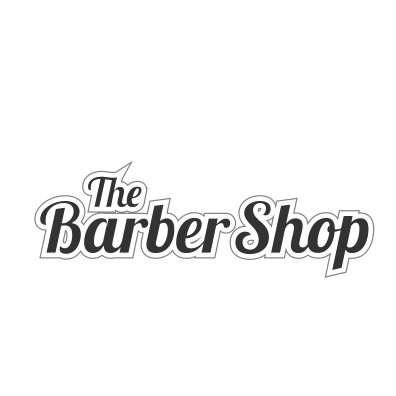 Adhesivo The Barber Shop gris.