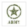 Adhesivo estrella Jeep Army