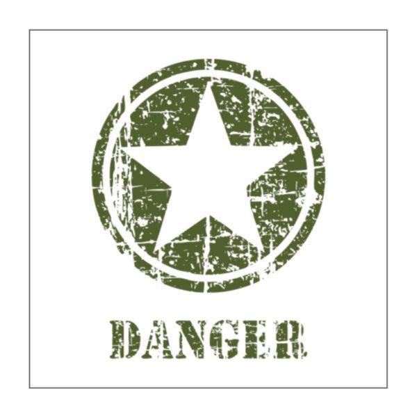 Adhesivo estrella Jeep Danger
