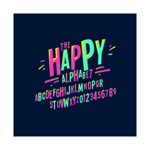 Adhesivo Letras Happy